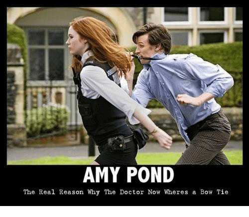 amy pond the real reason why the doctor now wheres 26456730 amy pond the real reason why the doctor now wheres a bow tie