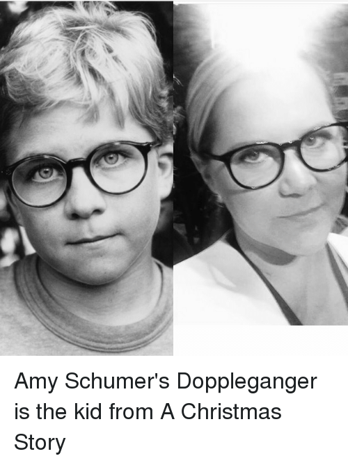 a christmas story amy schumer and funny amy schumers doppleganger is the kid