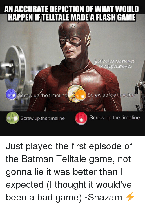An ACCURATE DEPICTION OF WHAT WOULD HAPPEN IF TELLTALE MADE