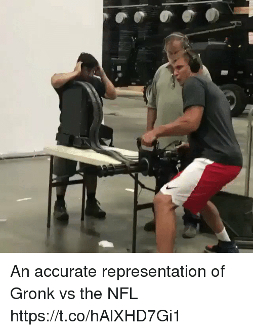 Memes, Nfl, and Accurate Representation: An accurate representation of Gronk vs the NFL https://t.co/hAlXHD7Gi1