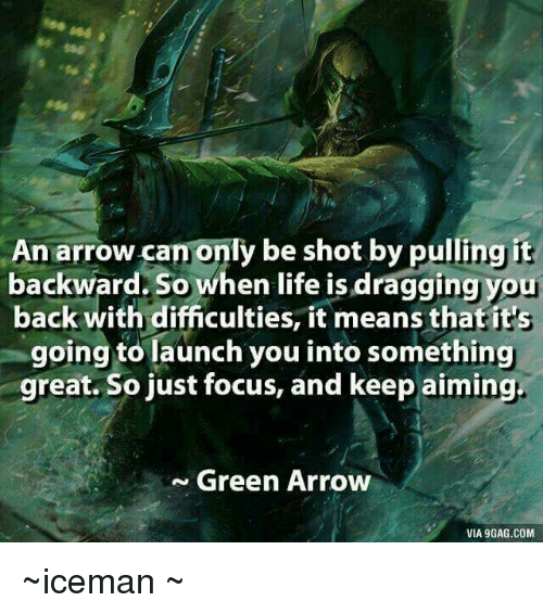 An Arrow Can Only Be Shot By Pulling It Backward When: 25+ Best Memes About Green Arrow