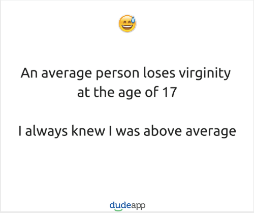 Age average virginity where logic?