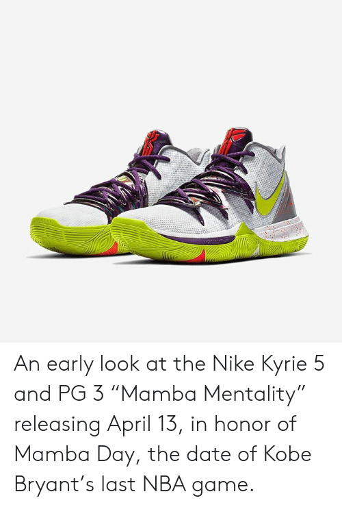 best service dc779 3889b Kobe Bryant, Nba, and Nike  An early look at the Nike Kyrie 5