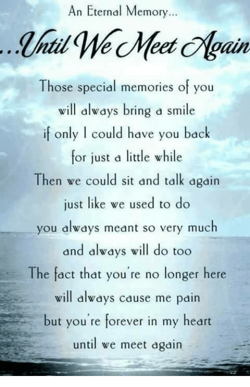 f166efec060 An Eternal Memory Those Special Memories of You Will Always Bring a ...