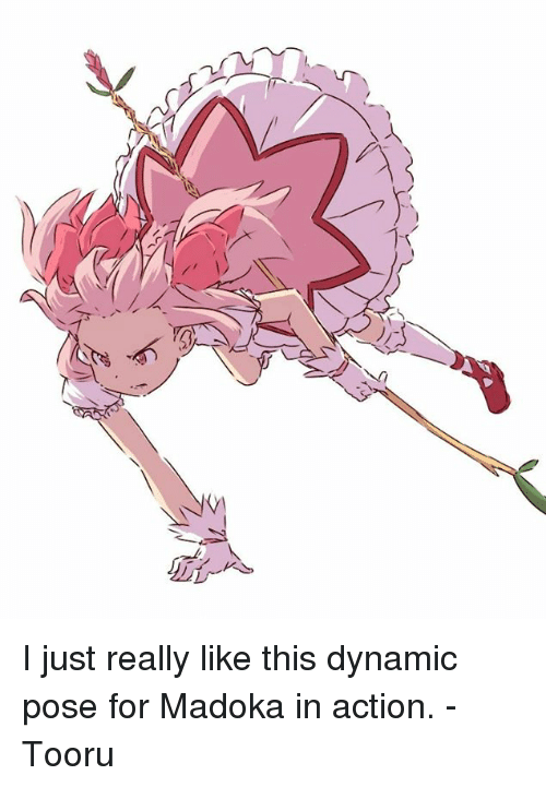 An I Just Really Like This Dynamic Pose for Madoka in Action - Tooru