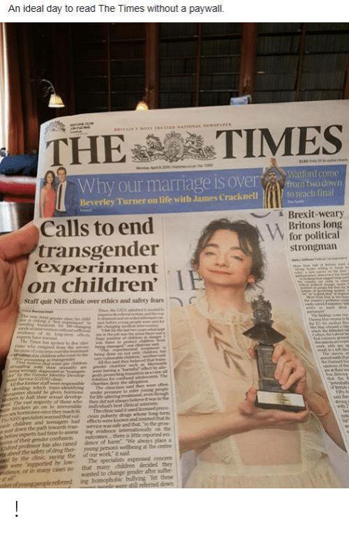 An Ideal Day to Read the Times Without a Paywall THETIMES