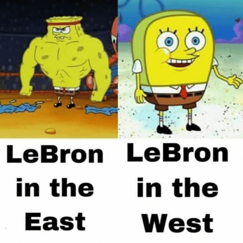 Memes, Lebron, and 🤖: AN  LeBron LeBron  in the in the  East West