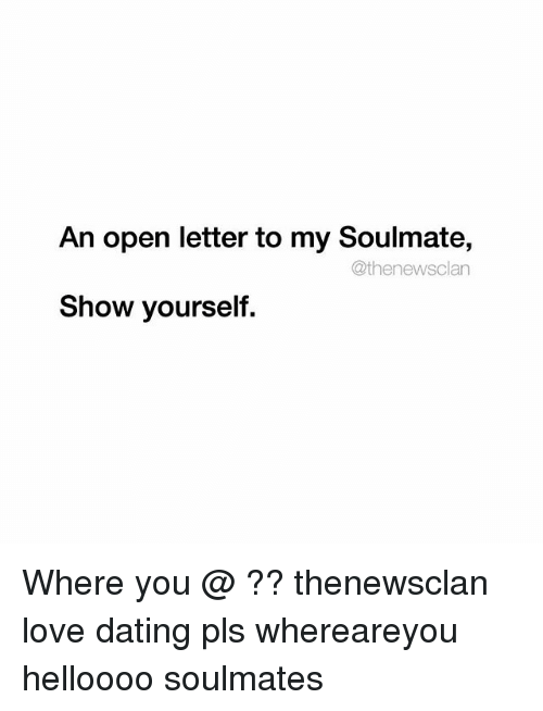 a letter to my soulmate