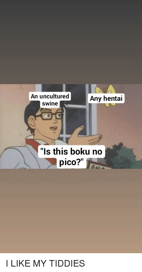 An Uncultured Swine Any Hentai Is This Boku No Pico Anime Meme On Me Me Tune in, log on, come hang out.whatever you gotta do. meme
