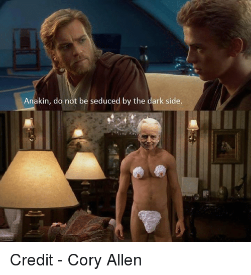 Star Wars, The Darkness, and The Dark: Anakin, do not be seduced by the dark side. Credit - Cory Allen