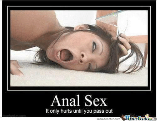 When anal sex hurts