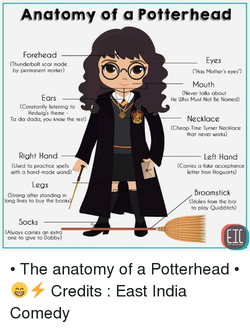 Anatomy Of A Potterhead Forehead Thunderbolt Scar Made By Permanent
