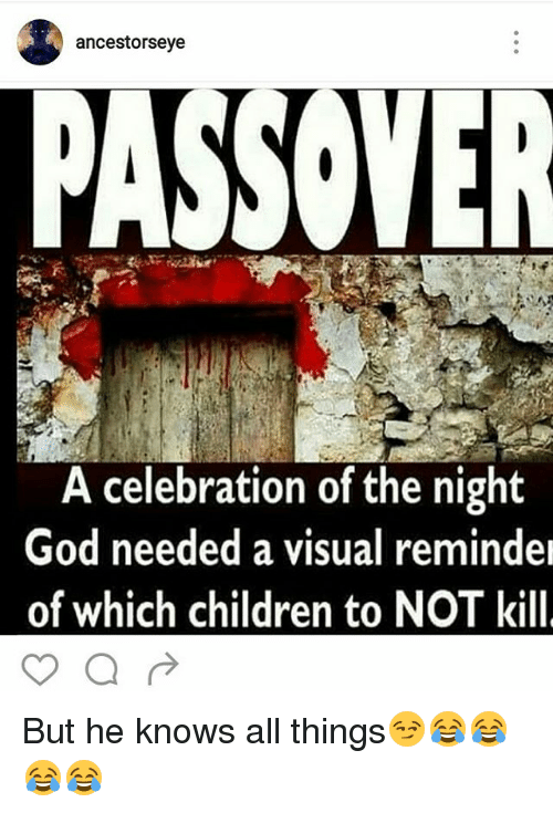 Ancestorseye PASSOVER a Celebration of the Night God Needed a Visual
