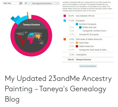 Ancestry Compositon Tels You What Percent of Your DNA Cames