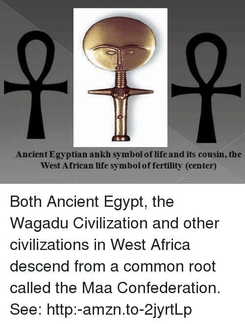 Ancient Egyptian Ankh Symbol Of Life And Its Cousin The West African