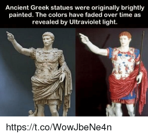 Ancient Greek Statues Were Originally Brightly Painted The Colors
