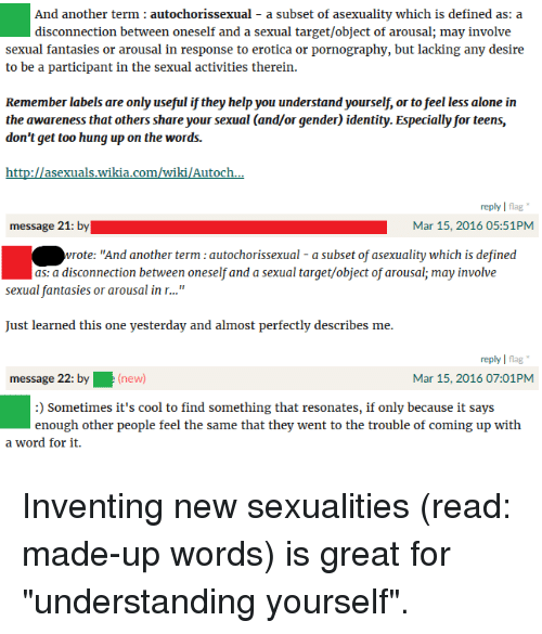 Autochorissexual meaning