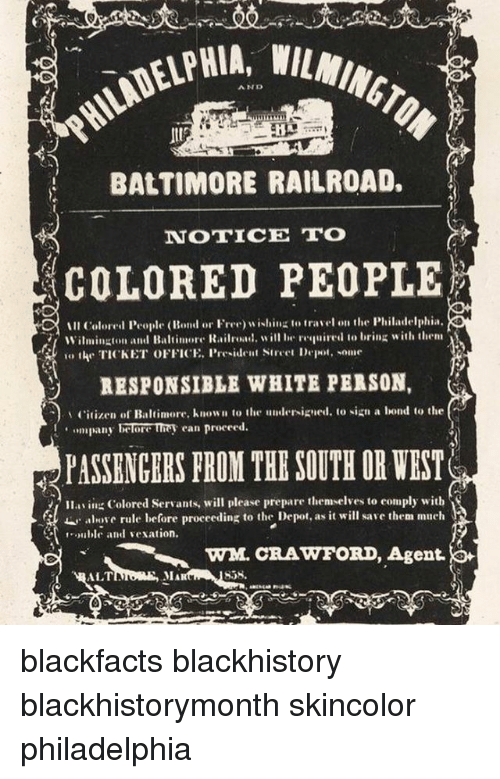 a100e8714 Blackhistory, Memes, and Baltimore: AND BALTIMORE RAILROAD. NOTICE TO  COLORED PEOPLE ill