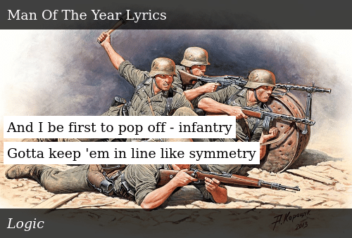And I Be First to Pop Off - Infantry Gotta Keep 'Em in Line