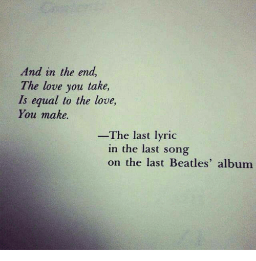 song i love you to the end