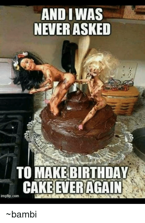 birthday cake meme and iwas never asked to make birthday cake again 1768