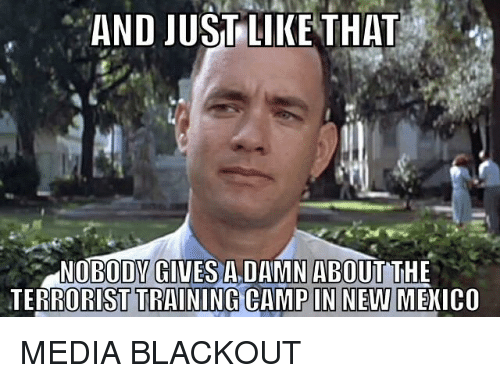 And justlikethat nobodv gives adamn about the terrorist training media camp and blackout and justlikethat nobodv gives adamn about the publicscrutiny Images