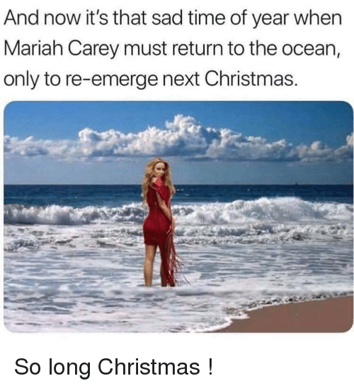 Resultado de imagem para mariah going back to ocean after christmas