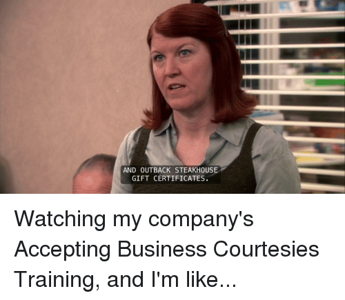 and outback steakhouse gift certificates the office meme on me me