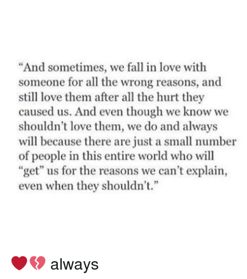 falling in love with someone