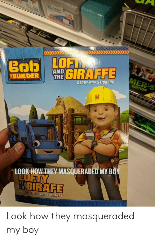 And THE GIRAFFE BUILDER STORY WITH STICKERS EDITION LOOK HOW