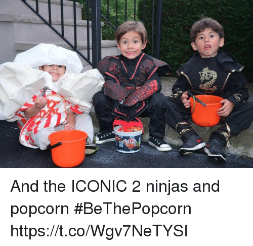 Memes, Popcorn, and Iconic: And the ICONIC 2 ninjas and popcorn #BeThePopcorn https://t.co/Wgv7NeTYSI