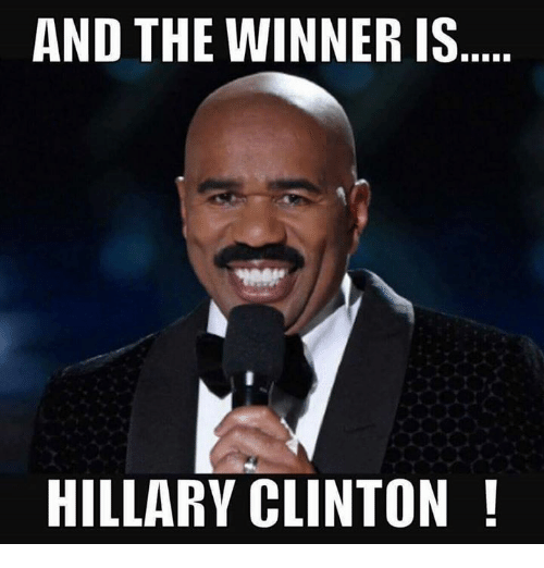 and the winner is hillary clinton 7004533 and the winner is hillary clinton hillary clinton meme on me me