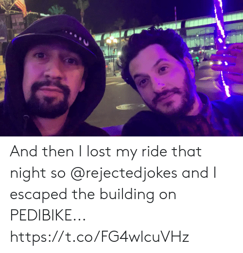 Memes, Lost, and 🤖: And then I lost my ride that night so @rejectedjokes and I escaped the building on PEDIBIKE... https://t.co/FG4wlcuVHz