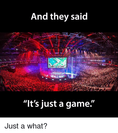 """Video Games and They Said: And they said  """"It's just a game. Just a what?"""