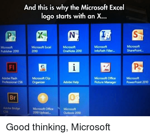 And This Is Why the Microsoft Excel Logo Starts With an X