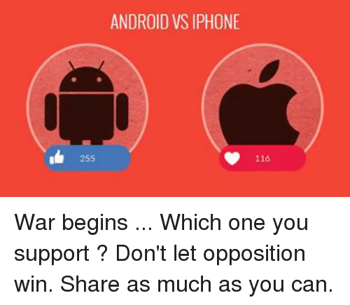 androids vs. iphones essay Iphone vs android 1343 words   6 pages eng 101 3/14/2012 iphone vs android what do people look for when purchasing a smart phone what are some of the major selling points that convince consumers that iphones are better than androids or vice versa.