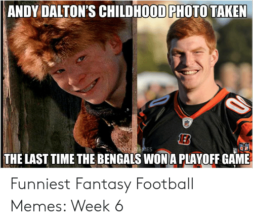 4b795c8e ANDY DALTON'S CHILDHOOD PHOTO TAKEN THE LAST TIME THE BENGALS WONA ...