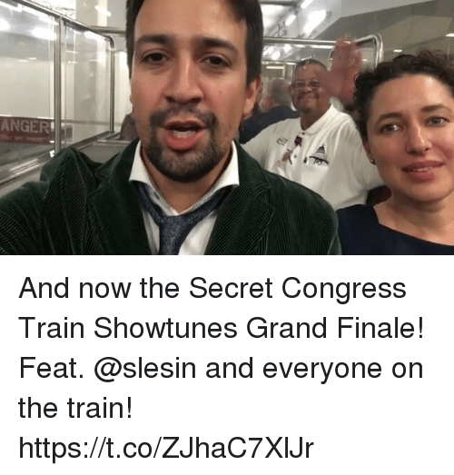 Memes, Train, and Grand: ANGER And now the Secret Congress Train Showtunes Grand Finale! Feat. @slesin and everyone on the train! https://t.co/ZJhaC7XlJr