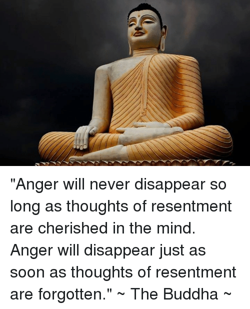 """Memes, Buddha, and 🤖: """"Anger will never disappear so long as thoughts of resentment are cherished in the mind. Anger will disappear just as soon as thoughts of resentment are forgotten.""""   ~ The Buddha ~"""