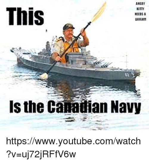 ANGRY This KITTY NEEDS a Is the Canadian Navy