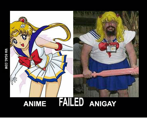 Anime Failed Anigay Aniem Cosplay Meme On Meme