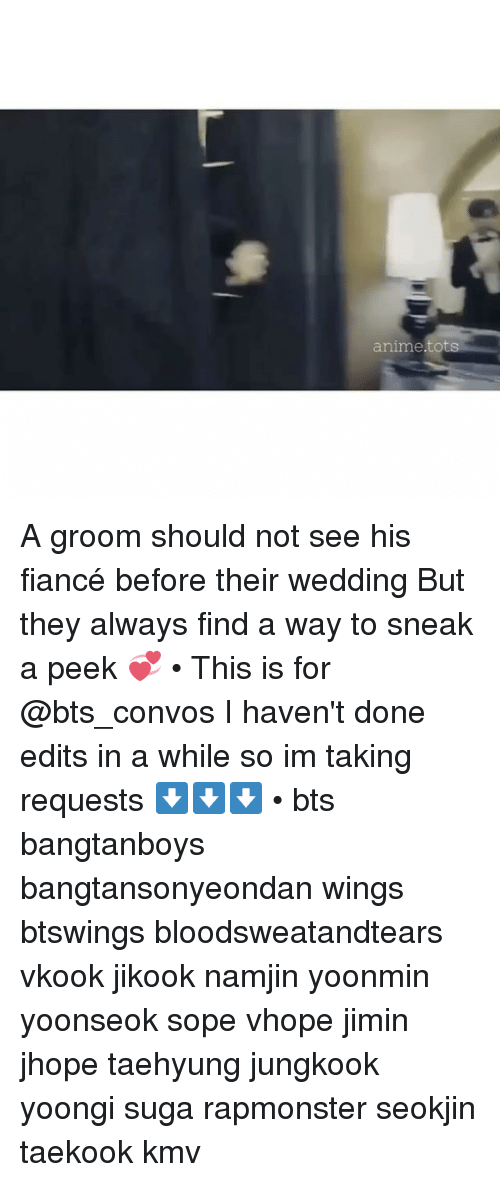 Anime Tots a Groom Should Not See His Fiancé Before Their