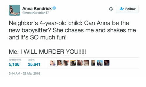 anna kendrick l follow neighbor s 4 year old child can anna be the