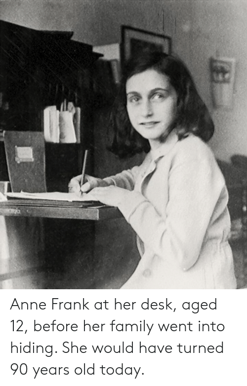how old was anne frank when she went into hiding