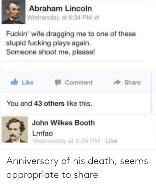 Death, Share, and Anniversary: Anniversary of his death, seems appropriate to share