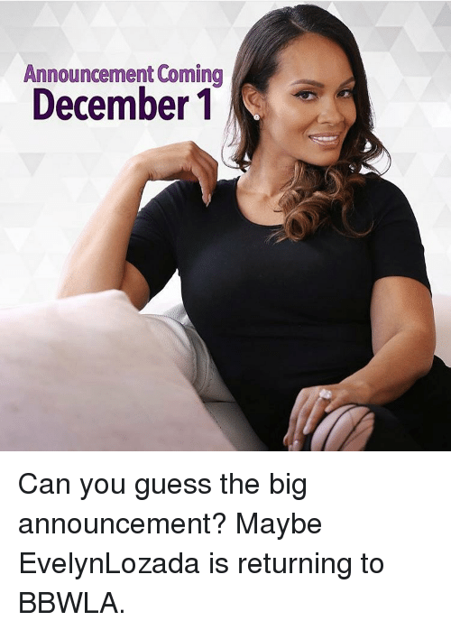 announcement coming december 1 can you guess the big announcement 7671657 announcement coming december 1 can you guess the big announcement