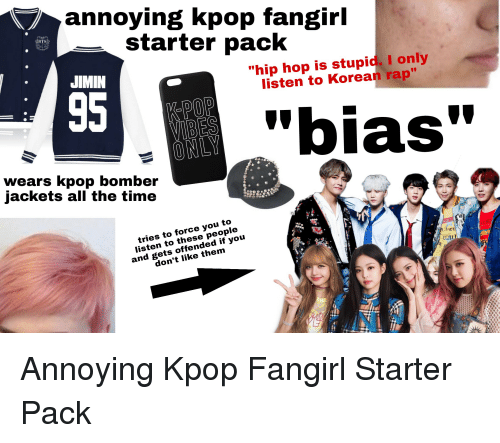 Annoying Kpop Fangirl Starter Pack Bts Jimin Hip Hop Is Stupid I