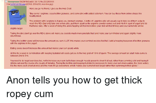 How To Make Cum Thicker