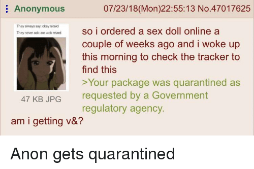 Anonymous online sex
