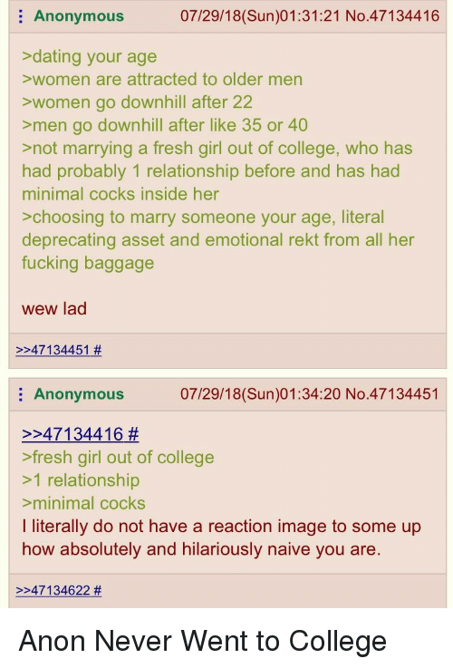 dating an older girl in college